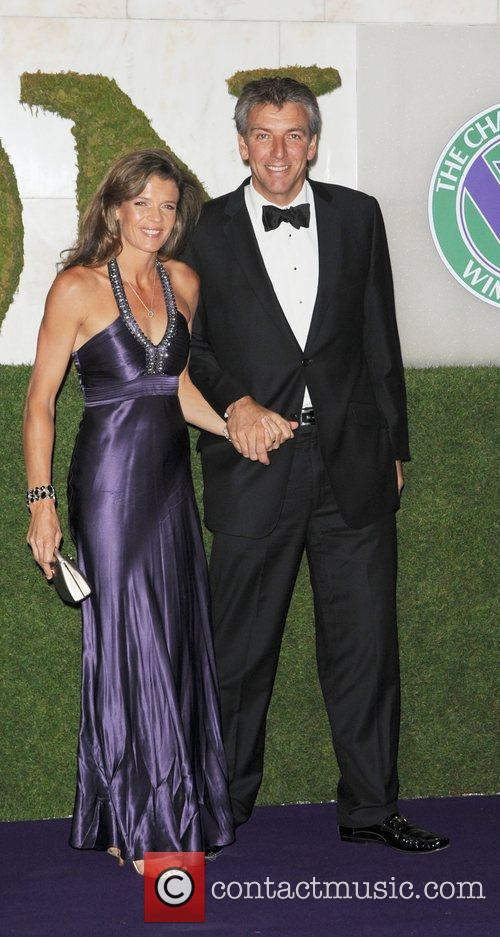 Annabel Croft and her husband Mel Coleman attending...