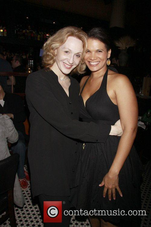 Jan Maxwell and January LaVoy Opening night after...