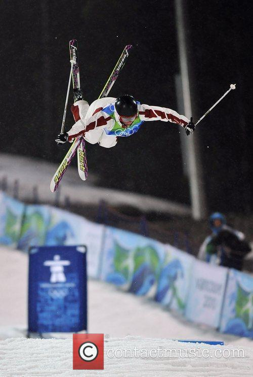 Canada's Jennifer Heil competes during the women's moguls...