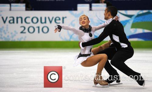 Germany's Aliona Savchenko (L)/Robin Szolkowy perform during the...
