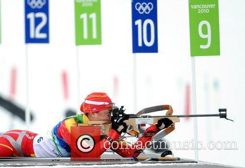 Kong Yingchao of China shoots in the women's...