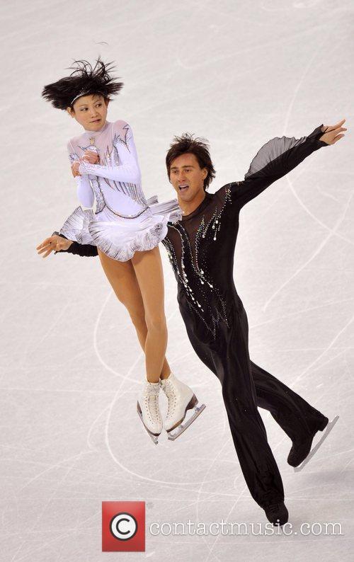 Russia's Yuko Kavaguti (front)/Alexander Smirnov perform during the...