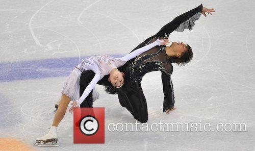 Russia's Yuko Kavaguti (L)/Alexander Smirnov perform during the...