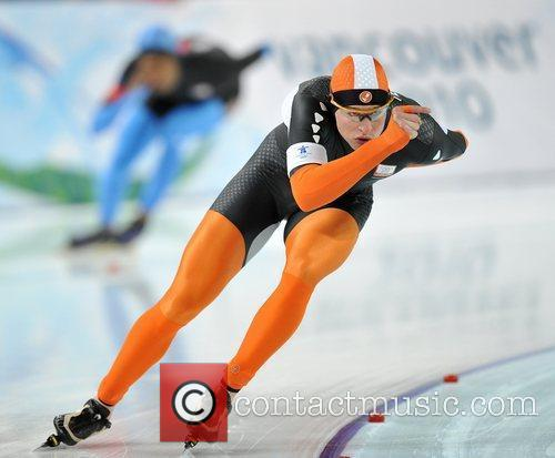 Sven Kramer of the Netherlands competes for men's...
