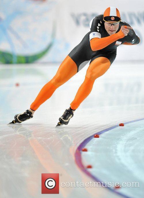 Sven Kramer of the Netherlands competes for men's...