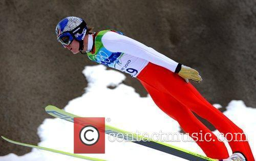 Thomas Morgenstern of Austria competes in the men's...