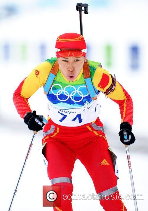 Wang Chunli of China competes in the women's...