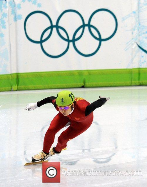 Wang Meng of China competes in the women's...