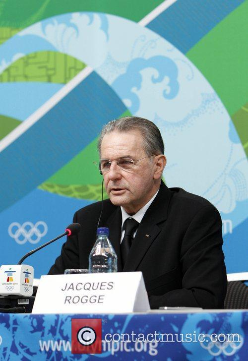 IOC president Jacques Rogge speaks during an IOC...