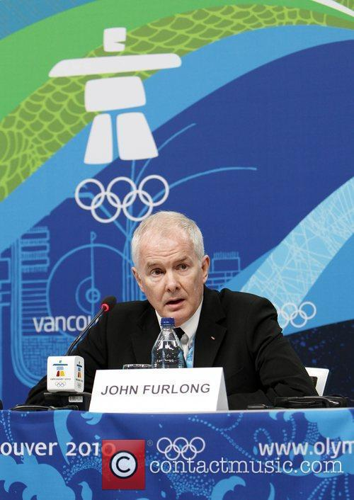 Vancouver Organizing Committee CEO John Furlong speaks during...