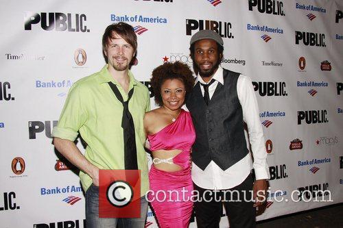 Bill Heck, Nyambi Nyambi, and cast Opening night...