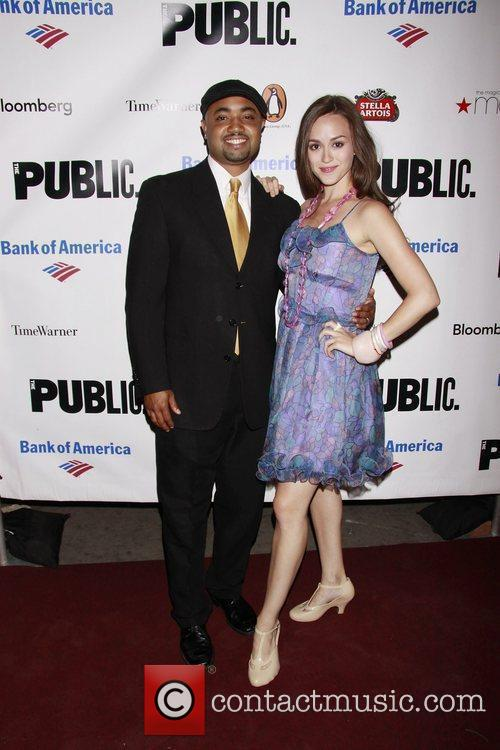 Francois Battiste and Heather Lind Opening night of...