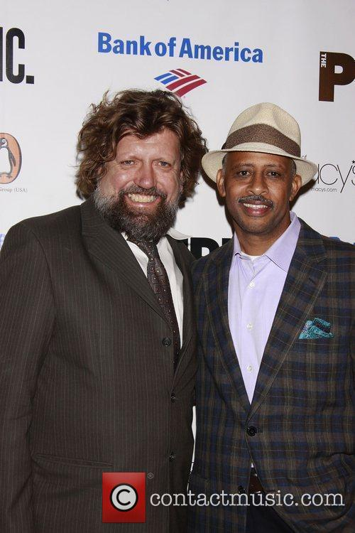 Oskar Eustis and Ruben Santiago-Hudson Opening night of...