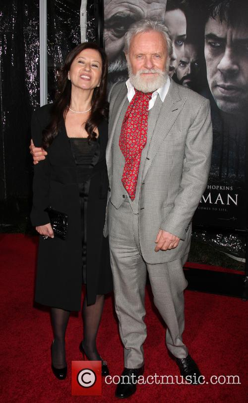 Anthony Hopkins and guest Premiere of 'The Wolfman'...