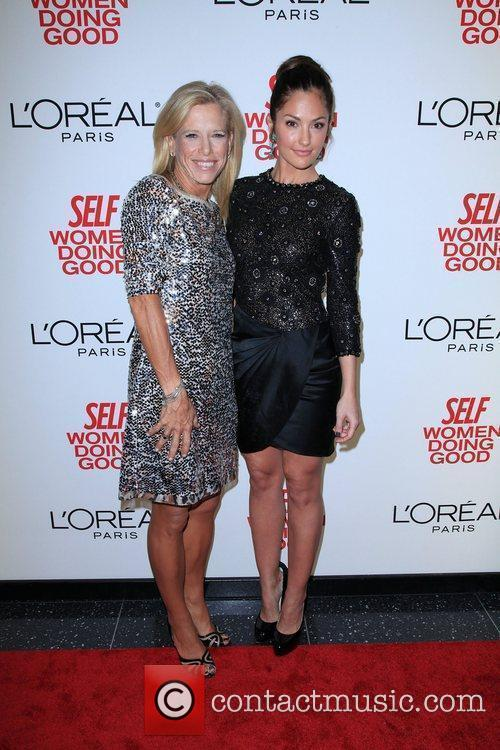Self Editor-in-Chief Lucy Danzige and Minka Kelly...
