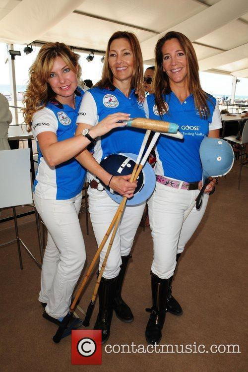 Polo players Erika Woods, Scarlet Davenport and Bobette...