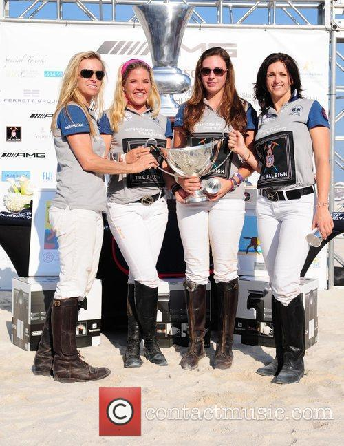 Morgan Stanley Polo players: Cecelia Cochram, Jackie Jolie,...