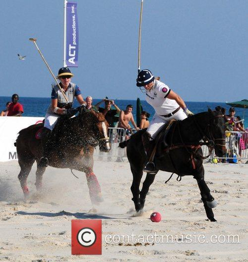 Polo player Isabella Wolf and Sunny Hale play...