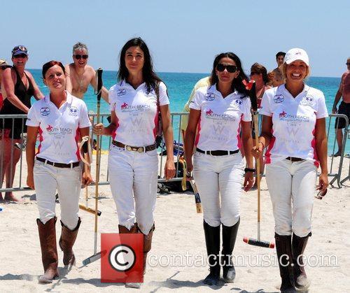 Polo players Hillary Edgar, Katherine Compos, Ana Paula...