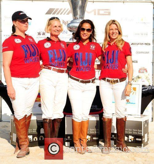 The Fiji Polo players: Stephanie Kraml Suttle, Lynn...