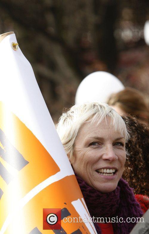 Annie Lennox  International Women's Day march in...