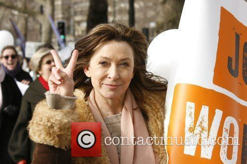 Cherie Lunghi  International Women's Day march in...