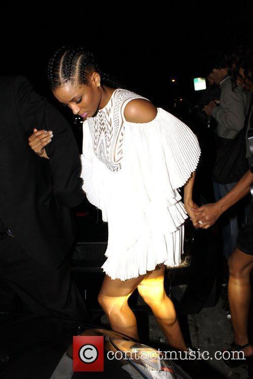 Departs a Grammy party at Wonderland nightclub
