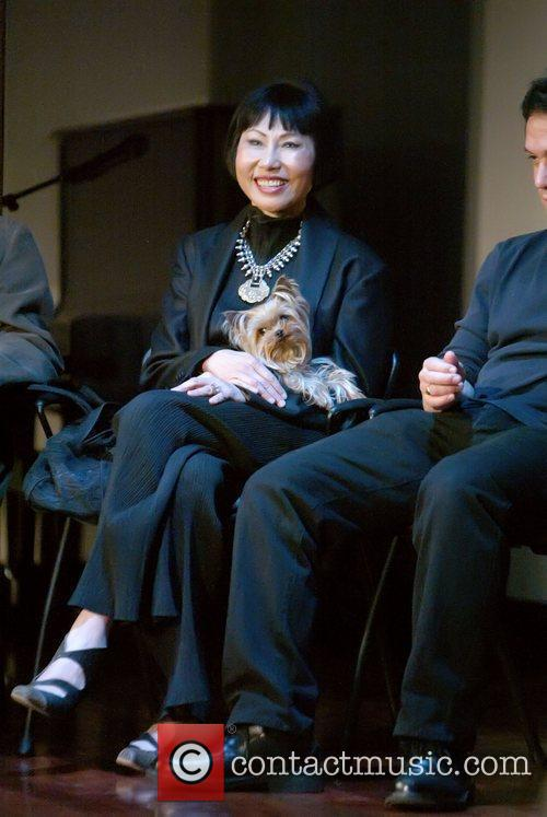 Amy Tan snuck her teacup Yorkie into the...