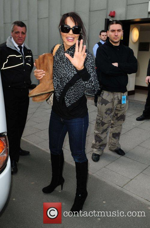 WWE diva Layla leaves her hotel  Manchester,...