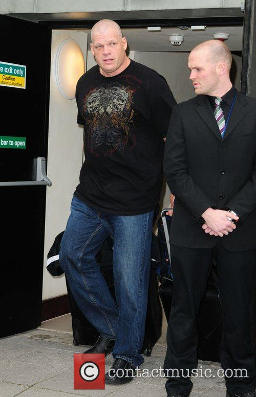 WWE star Kane leaves his hotel  Manchester,...