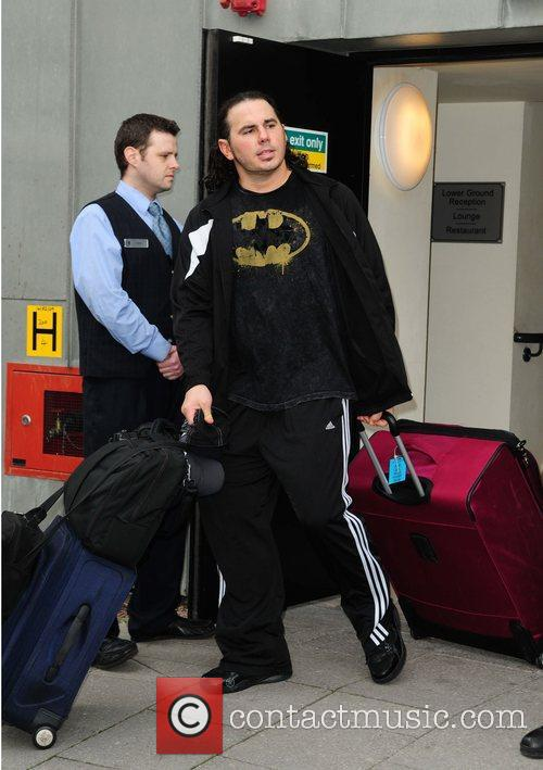 WWE star Matt Hardy leaves his hotel...
