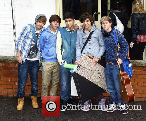 One Direction arrive at 'The X Factor' recording...