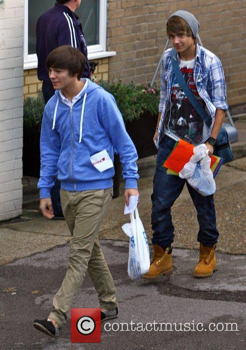 Louis Tomlinson and Liam Payne of 'One Direction'...