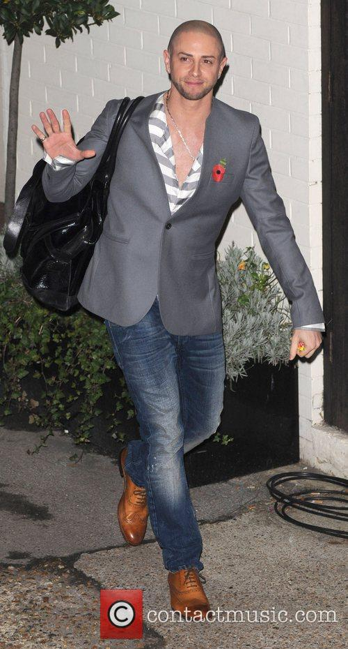 Brian Friedman leaves 'The X Factor' studios after...