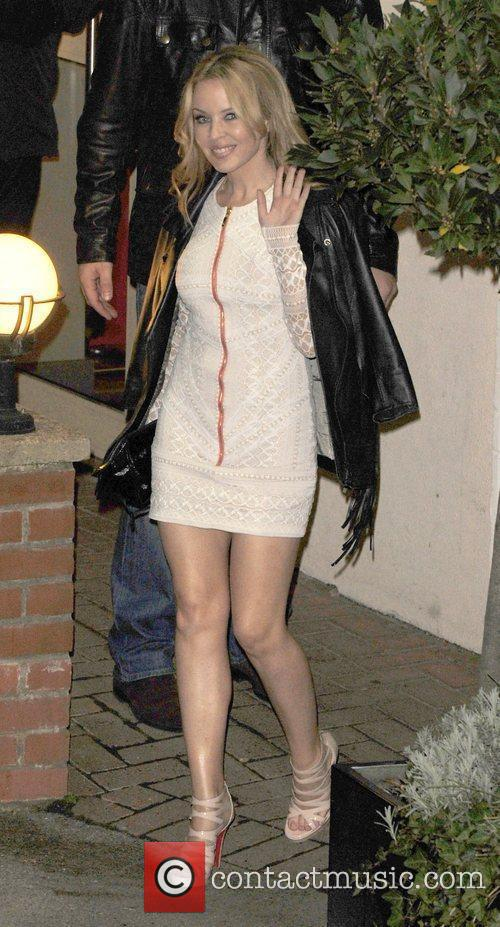 Kylie Minogue leaves 'The X Factor' studios after...