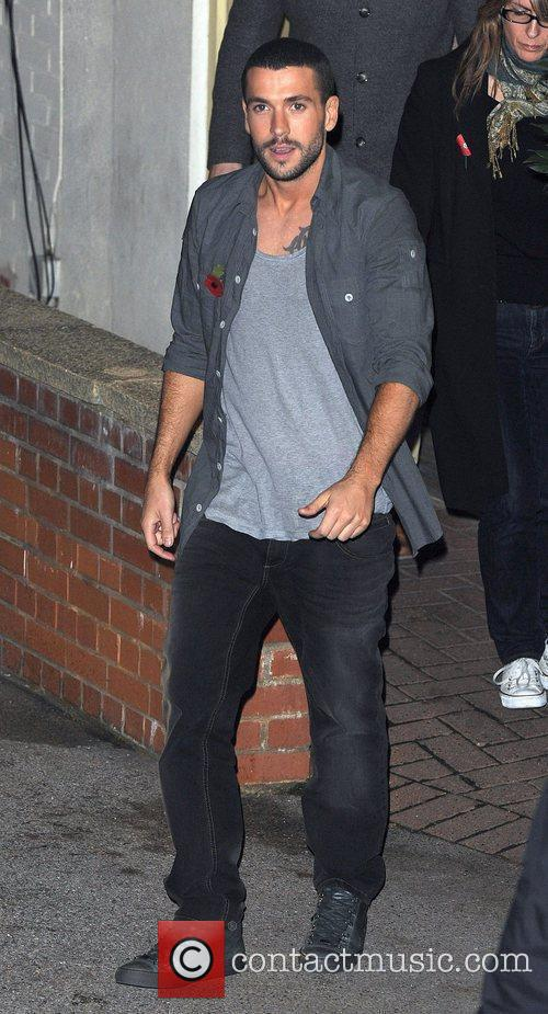 Shayne Ward leaves 'The X Factor' studios after...