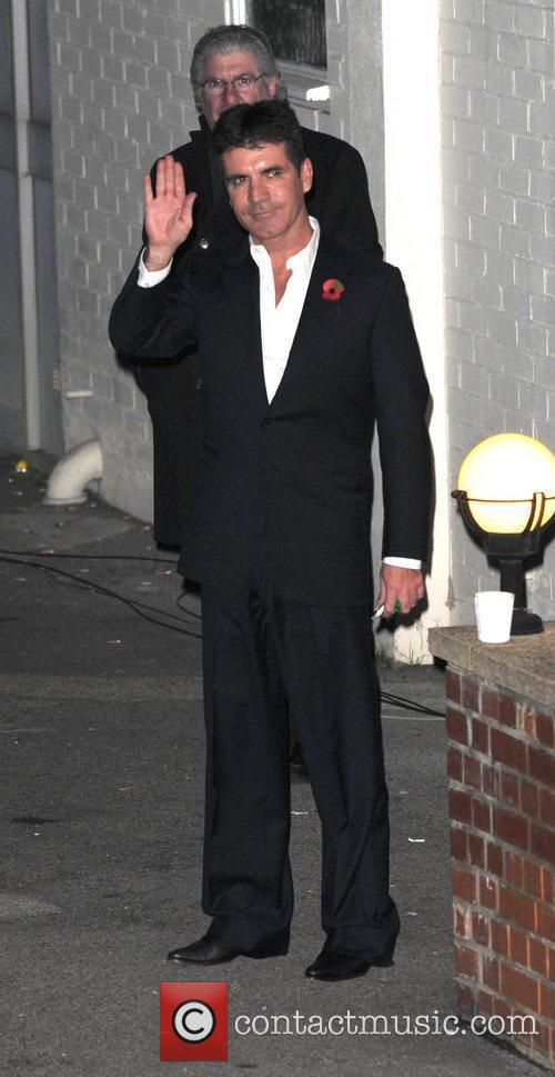 Leaves 'The X Factor' studios after last nights...