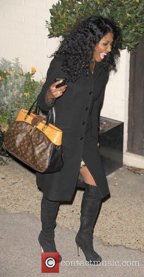 Sinitta leaves 'The X Factor' studios after last...