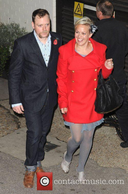 Rufus Hound leaves 'The X Factor' studios after...