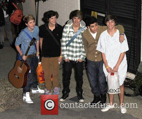 One Direction leave 'The X Factor' studios after...