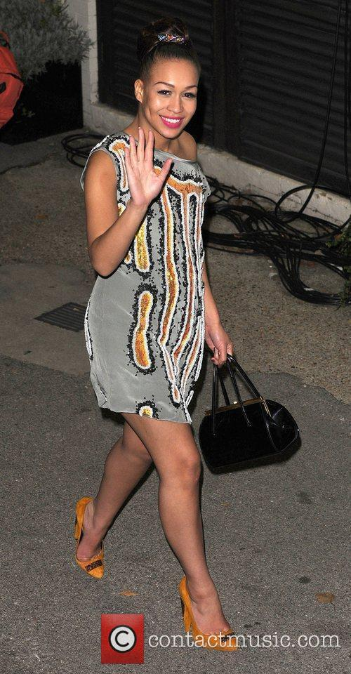 Rebecca Ferguson leaves 'The X Factor' studios after...