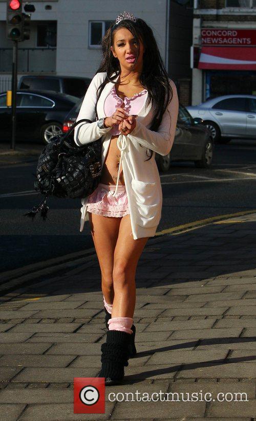 Chloe Mafia arrives at 'The X Factor' studios...