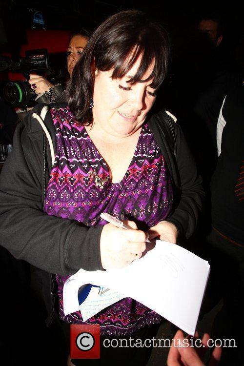 Mary Byrne X Factor contestants leave the studio...