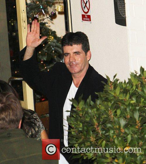 Simon Cowell arrives at 'The X Factor' studios...