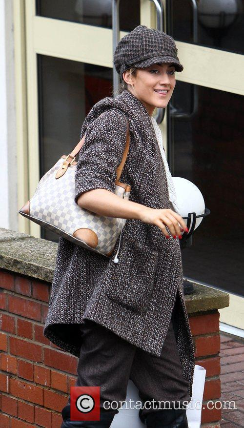 Katie Waissel arrives at 'The X Factor' studios...