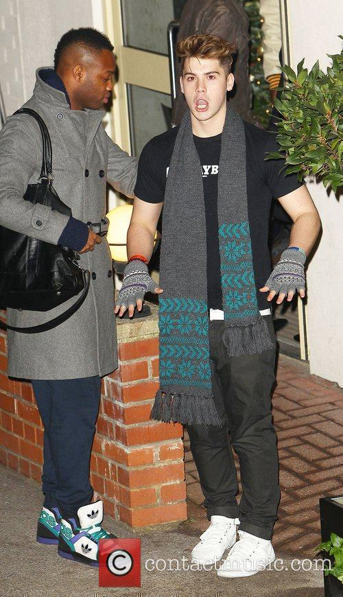 Aiden Grimshaw arrives at 'The X Factor' studios...