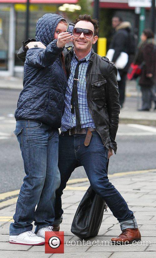 Guest arrives at 'The X Factor' studios ahead...
