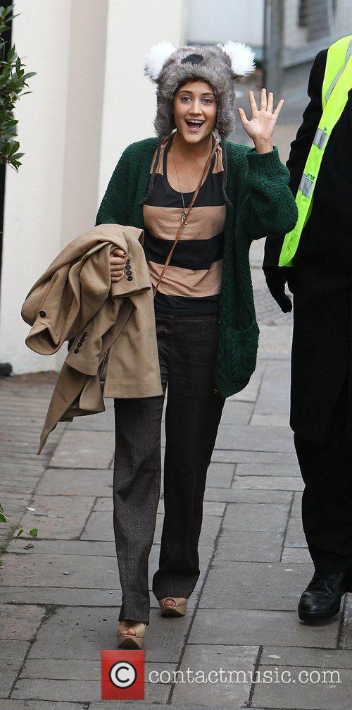 Katie Waissel arrive at 'The X Factor' studios...