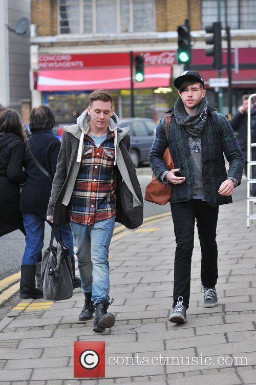 Guests arrive at 'The X Factor' studios ahead...