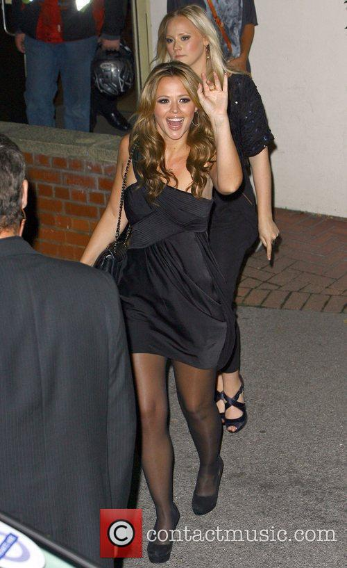 Kimberley Walsh outside Fountain recording studios in Wembley...